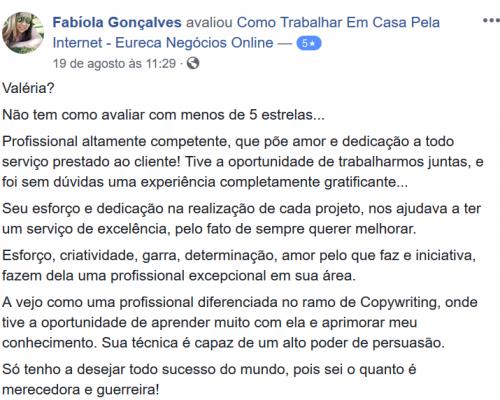 Depoimento Fabíola Gonçalves